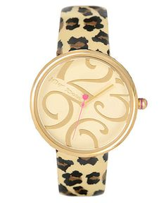 Betsey Johnson Watch, Women's Leopard Print Leather Strap BJ00068-05 - Women's Watches - Jewelry & Watches - Macy's