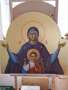 Religious Icons, Religious Art, Byzantine Icons, Orthodox Christianity, Orthodox Icons, Cathedral, God, Children, Painting