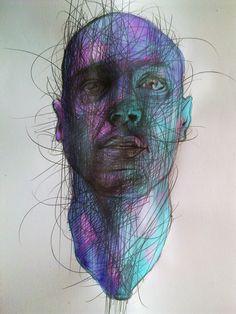 "Saatchi Online Artist: Przemek Qbicki; Charcoal, Drawing ""after great feeling"""