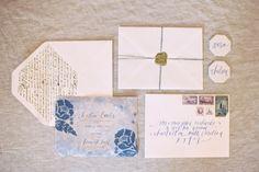 Elegant blue and white wedding inspiration