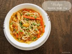 Nepalese Noodle Soup- like ramen, but better! Thukpa is a Nepalese noodle soup with a delicious Indian spiced broth. It takes about 15 minutes to make and tastes even better the next day! Indian Food Recipes, Asian Recipes, Ethnic Recipes, Nepalese Recipes, Vegetarian Dinners, Vegetarian Recipes, Veg Chowmein, Nepal Food, Soup Recipes