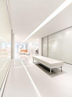 Teknion Showroom by Kiva Design White Walls, Showroom, Office Entrance, Modern, Design Design, Collaboration, Furniture, Spaces, Off White Walls
