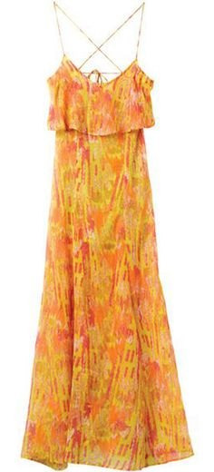 Cute Dress in Orangey Yellow