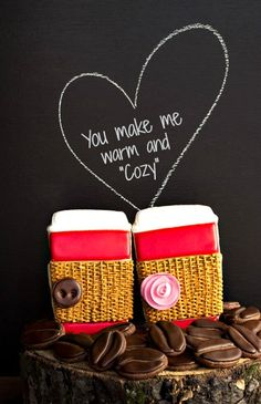 We're the Perfect Blend! (Valentine Cookies) - such CUTE cookies from The Bearfoot Baker