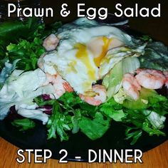 Prawn & Egg Salad #cwp #CambridgeDiet #step2 Cambridge Weight Plan, Egg Salad, Foods To Eat, Prawn, Diet Recipes, Healthy Eating, Eggs, Meat, Chicken