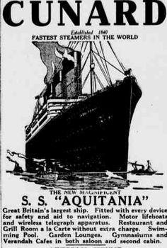 Early Ocean Liner Travel
