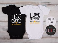 Baby Boy, Baby Girl Clothes, I LOVE MOMMY She's My Favorite! One Piece, New Mom Gift, Mother's Day Baby Outfit, More Colors Available by GlitterCollections on Etsy https://www.etsy.com/listing/489710046/baby-boy-baby-girl-clothes-i-love-mommy