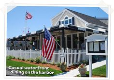 The Black Cat Tavern offers casual waterfront dining on Hyannis harbor! They have a heated outdoor patio from April-October.
