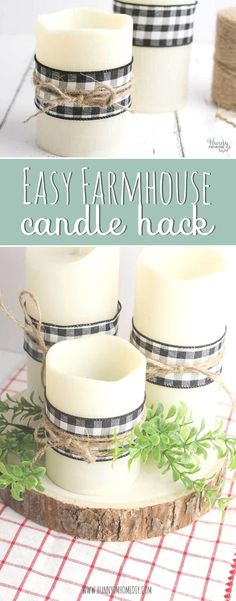 Farmhouse Candles, Home Candles, Country Farmhouse Decor, Farmhouse Style Decorating, Diy Candles, Farmhouse Ideas, Farmhouse Design, Farmhouse Décor, Farmhouse Bedroom Decor