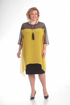 Simple Dresses, Pretty Dresses, Plus Size Dresses, Plus Size Outfits, Casual Dresses, Blouse Dress, I Dress, Curvy Fashion, Plus Size Fashion