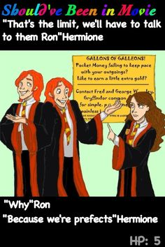 Harry Potter and the Order of the Phoenix Should've Been in Movie Hermione Ron prefects Fred and George looking for  testers Skirving Snackboxes funny