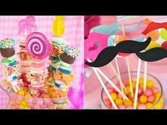 ¿Cómo hacer arreglos de mesas con dulces? / How to arrange tables with candy? - YouTube