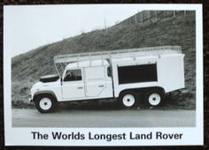 THE WORLDS LONGEST LAND ROVER PRESS PHOTOGRAPH BLACK & WHITE UNDATED | eBay
