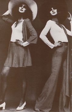 Donna Mitchell and Ingemari Johanson modelling BIBA. Photograph by Helmut Newton