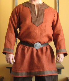Medieval Celtic Viking Norman Shirt with Collar Deluxe