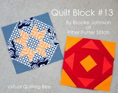 Virtual Quilting Bee Block #13 - Diary of a Quilter