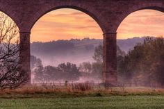 Under the arches in Huby, England in the early morning - James Whitesmith