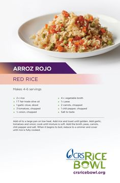 Try this from Rojo, Rice. Mexican Food Recipes, Healthy Recipes, Ethnic Recipes, Rice Bowls, Healthy Choices, Vegetarian, Favorite Recipes, Lenten, Stuffed Peppers