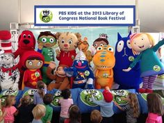 From the National Book Festival--How cool is it to see all of these awesome PBS KIDS characters in one place?!