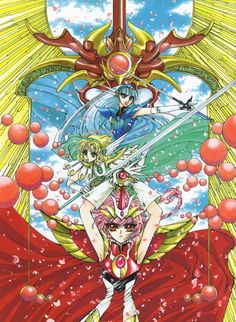 Feh Yes Vintage Manga: Photo History Of Manga, Magic Knight Rayearth, Adobe Photoshop Elements, Fantasy Armor, Fantasy World, Magical Girl, Sailor Moon, New Art, Dragon Ball