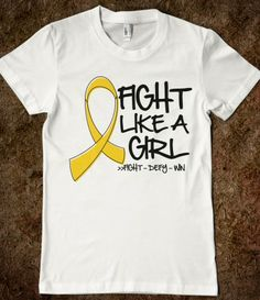 Neuroblastoma Ribbon Fight Like a Girl Shirts #FightLikeaGirl #CancerAwareness #TeamMacenzie