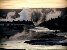 Boiling hot springs