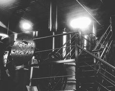 There's nothing quite like a calm moment at the brewery.  #my_athens #brewery #brewhouse #terrapinbeerco #brewerytour #blackandwhite : @wondrox