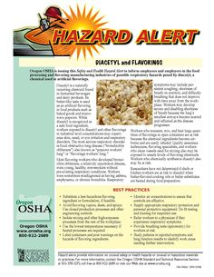 Diacetyl and flavorings, by the Oregon Occupational Safety and Health Division