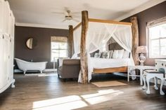 White Water Farm is a Stanford Wedding Venue in Overberg. This wedding venue includes a beautiful barn Chapel for your ceremony. Ensuite Bathrooms, Bedroom With Ensuite, Large Bedroom, Modern Country, Country Farmhouse, Small Kitchenette, Victorian Bath, Best Weekend Getaways, Self Catering Cottages