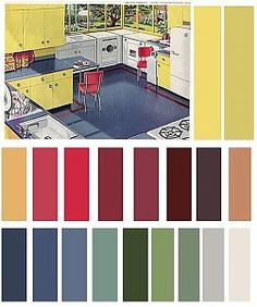 colour pallette for hall/house - nimivo sites Sage Color Palette, Vintage Colour Palette, Vintage Colors, Color Schemes Design, 1940s Home, Hall House, Living Vintage, Shop Interior Design, Interior Colors