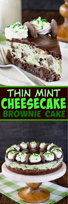 Layers of creamy cheesecake and a soft chewy brownie make this Thin Mint Cheesecake Brownie Cake your new favorite dessert to share with friends.  If you can…