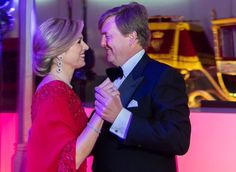 King Felipe and Queen Letizia attend the birthday party of King Willem-Alexander at Royal Stables of Noordeinde Palace on April 29, 2017 in The Hague. (According to the news, a coach with Royal guests with, Grand Duke Henri, Grand Duchess Maria Teresa, Crown Princess Victoria and Crown Princess Mette-Marit arrived at Noordeinde Palace for an private birthday party for King Willem-Alexander)