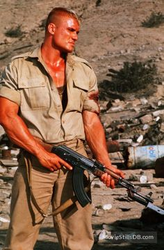 Red Scorpion - Publicity still of Dolph Lundgren