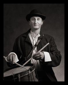 Self-Portrait as Wigdor Goldstein (Drum-The Goldstein Brothers Klezmer Band) b. Poland, 1900s d. Argentina, 1960s