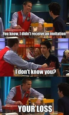 When I see drake and josh memes, I read them in their voices in my head  I remember these quotes sm