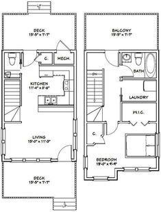 Cabin Floor Plans, Small House Plans, House Stairs, House 2, Cottage House, Italy House, Porch Steps, Room Dimensions, Garage Plans