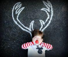 Reindeer Holiday kids tshirt by Onceuponastory on Etsy, $20.00