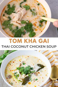 Summer Salad Recipes, Easy Salad Recipes, Thai Recipes, Asian Recipes, Mexican Food Recipes, Soup Recipes, Cooking Recipes, Healthy Recipes, Chicken Coconut Soup