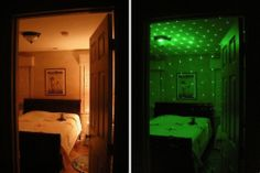 Transform a bedroom into a magical starfield in seconds with the new Firefly laser starfield projector. Then disconnect from the indoor AC transformer and  run on batteries while you amaze your friends anywhere you go!  Find yours here: http://lasersandlights.com/firefly-ldh-emerald-green-laser-lamp-p-228.html?cPath=7