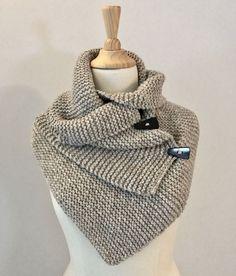 Brei een warme col-sjaal : gratis patroon - Vicarno