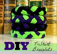 12 Days of Homemade Christmas:T-shirt Bracelets