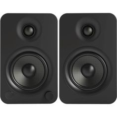 "Kanto - 4"" Wireless 2-Way Bookshelf Speakers (Pair) - Matte black"