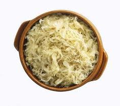 sauerkraut / sour krout. The word comes directly from the German language , which literally translates to sour cabbage.) … was a common dish found on ships and was prepared in the German manner, with water and salt. Sour Krout would keep for a long time and part of it's popularity was because it would prevent scurvy.  Sea water was actually used to boil the cabbage to make the Sour Krout.