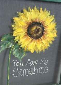 SunflowerYou are my sunshineWindow by RebecaFlottArts on Etsy