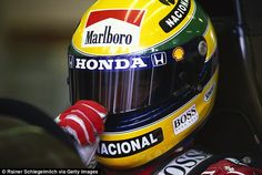 Ayrton Senna wore his Brazilian colours of green and yellow throughout his extraordinary F1 career