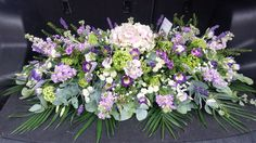 'English Country Garden' 3.5ft Casket flowers by Laleham Flowers