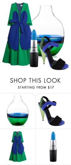 """""""Blue &Green"""" by marina-zeleznak ❤ liked on Polyvore featuring Carlo Moretti, Gucci, Delpozo and MAC Cosmetics"""
