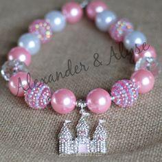 Princess Castle Chunky Necklace bubblegum by AlexanderandAlyse