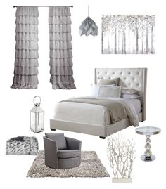 """""""Grey Bedroom"""" by kimberly-gooden-bumpas on Polyvore featuring interior, interiors, interior design, home, home decor, interior decorating, Yosemite Home Décor and bedroom"""