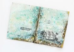 Hello everyone!   I have a art journaling page to share with you!         I used some of Prima's Artisan powders and oil pastels to creat...